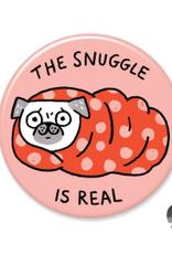 Badgebomb Snuggle is Real Big Magnet