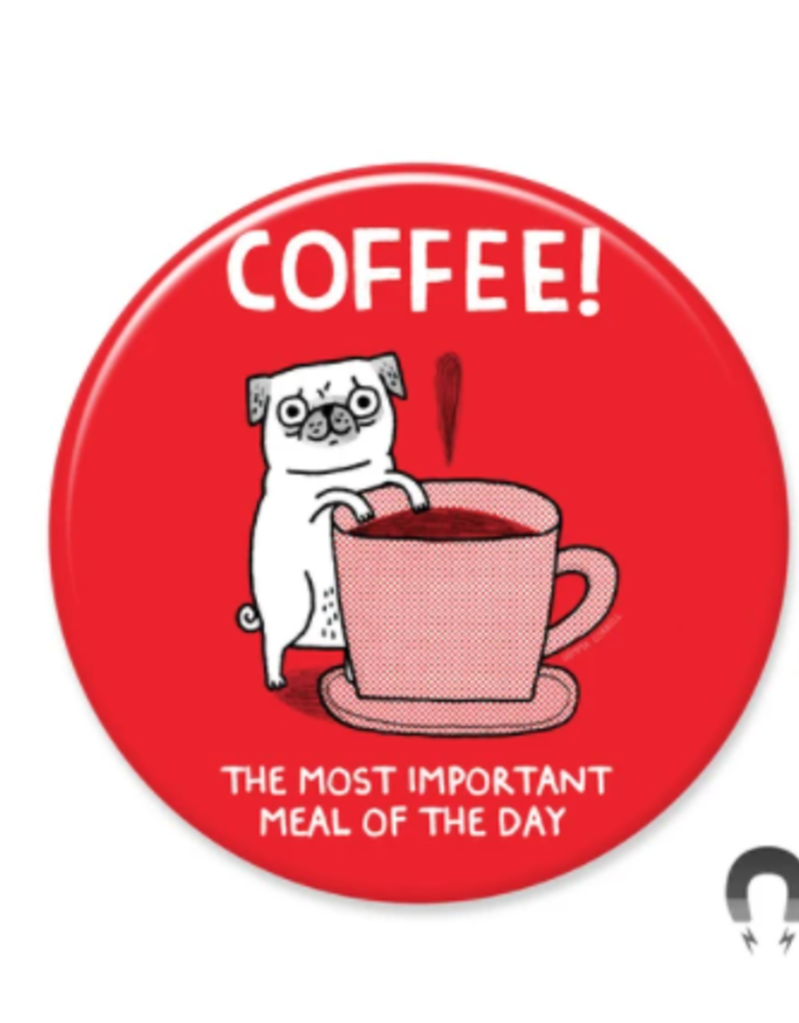 Badgebomb Coffee Pug Big Magnet