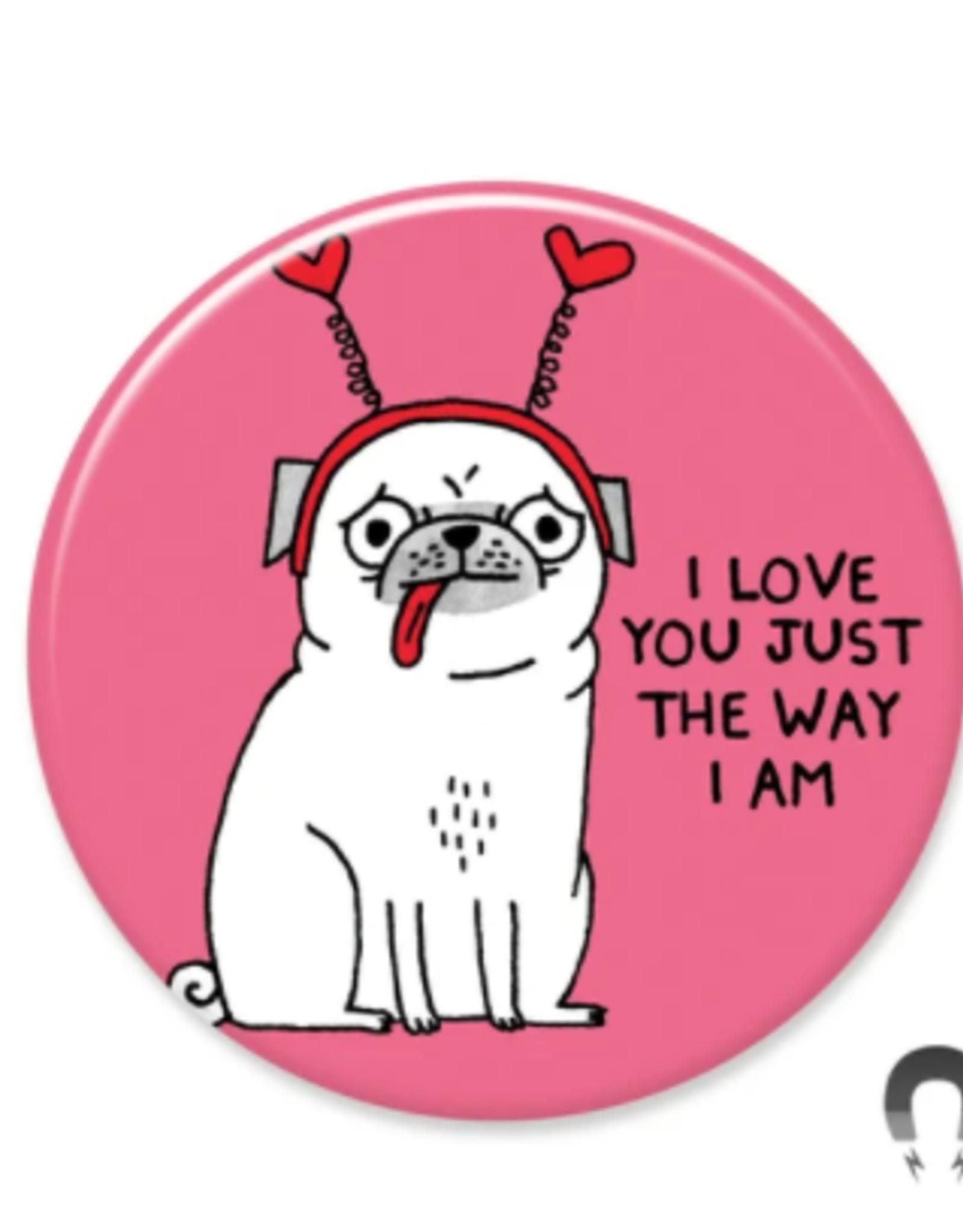 Badgebomb Love You Pug Big Magnet