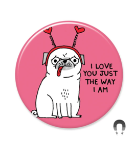 Badgebomb Love You Pug Big Magnet