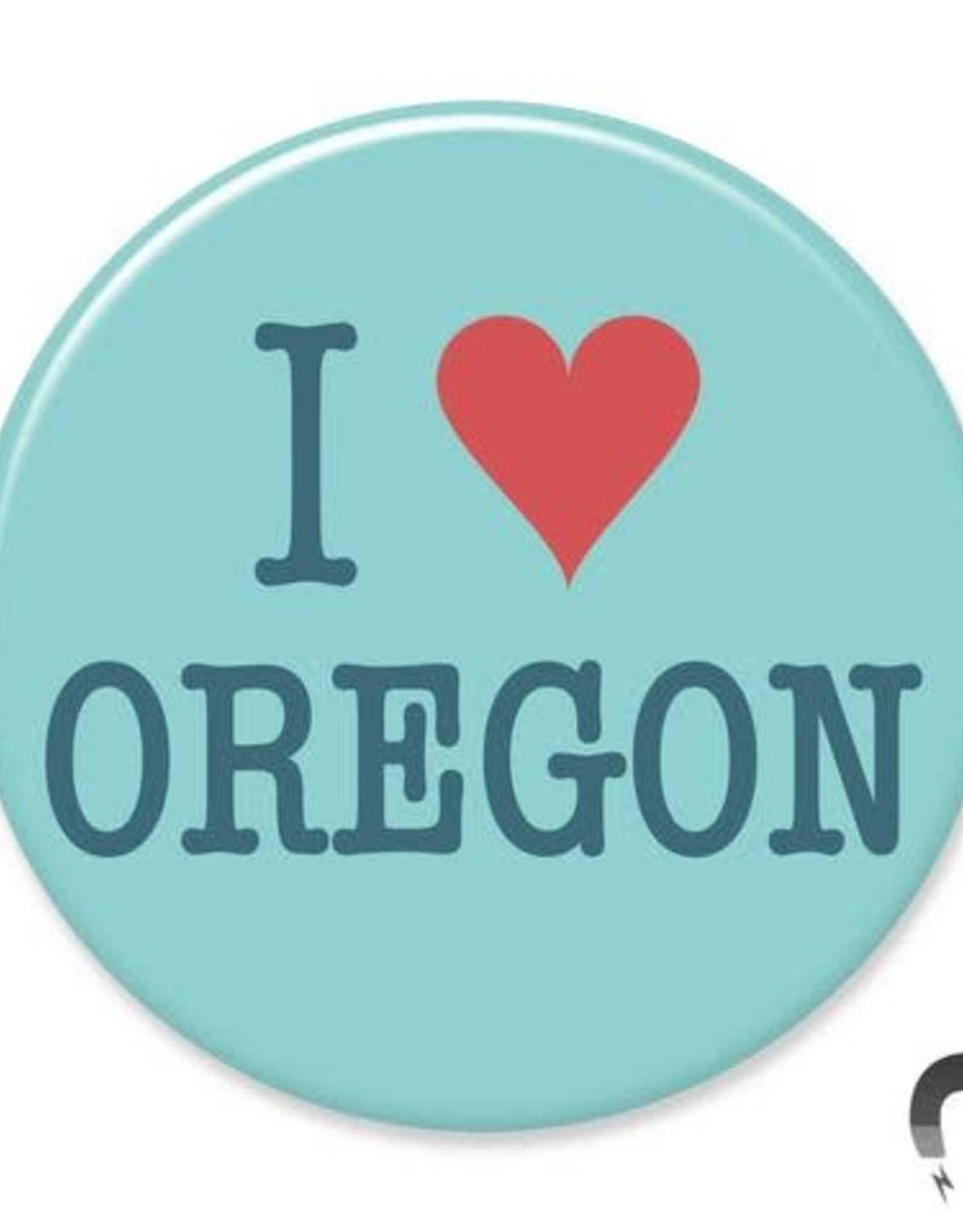 Badgebomb I Heart Oregon Big Magnet