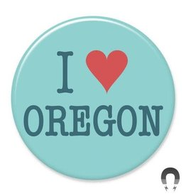 Badgebomb I Heart Oregon Big Magnet