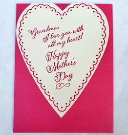Mother's Day Grandma Heart Greeting Card - A Favorite Design