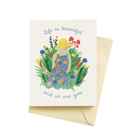 Seltzer Life is Beautiful Mother's Day Greeting Card - Seltzer