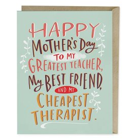 Emily McDowell Cheapest Therapist Mother's Day Greeting Card - Emily McDowell