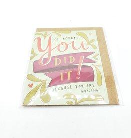 Emily McDowell You Did It! Mini Greeting Card  - Emily McDowell