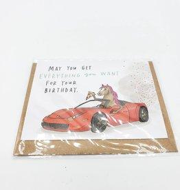 Emily McDowell Pizza Pony Ferrari Mini Greeting Card  - Emily McDowell