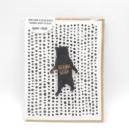 """Mama Bear"" Wood Magnet Greeting Card - Snow Made"