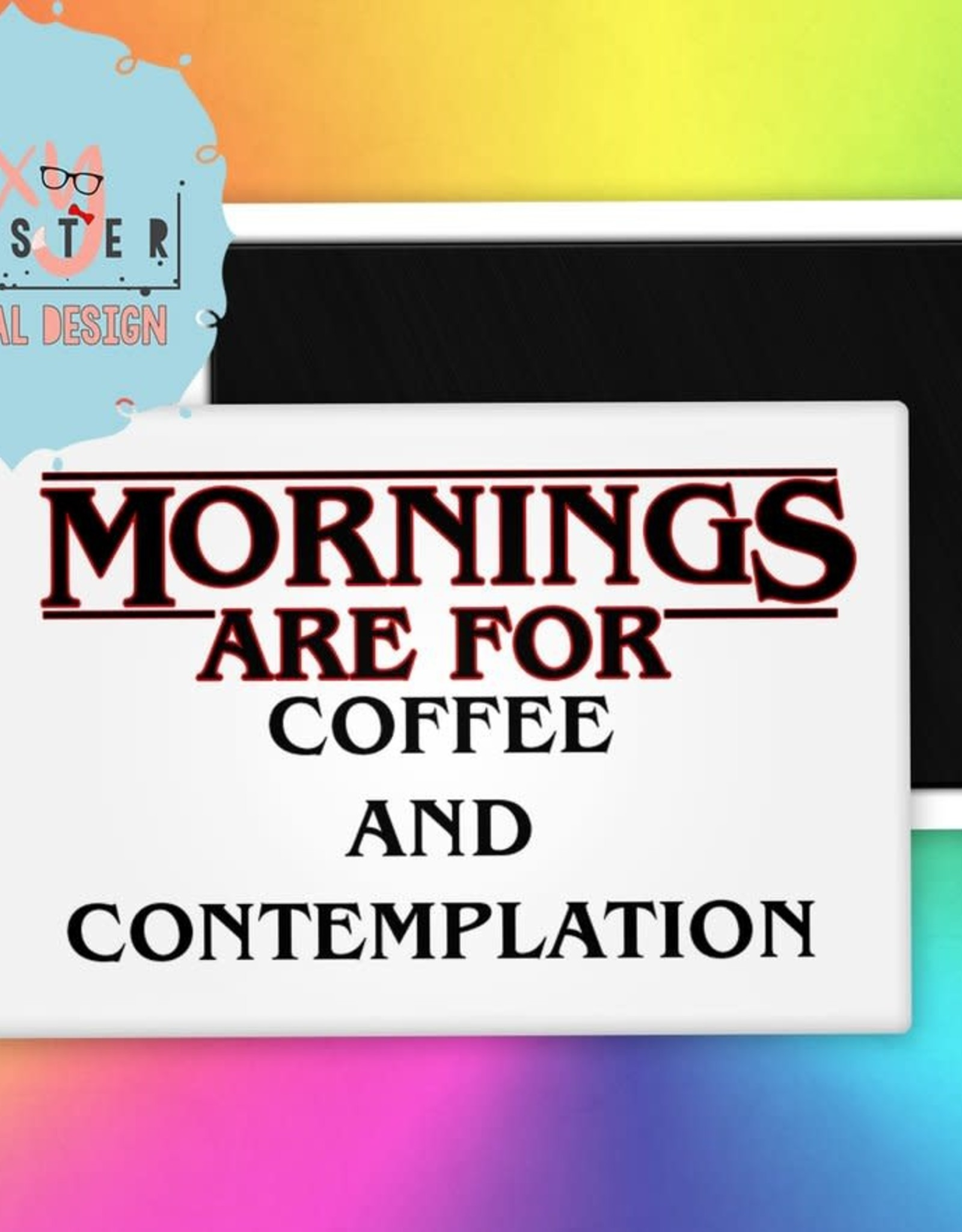 The Foxy Hipster Coffee & Contemplation Magnet - The Foxy Hipster