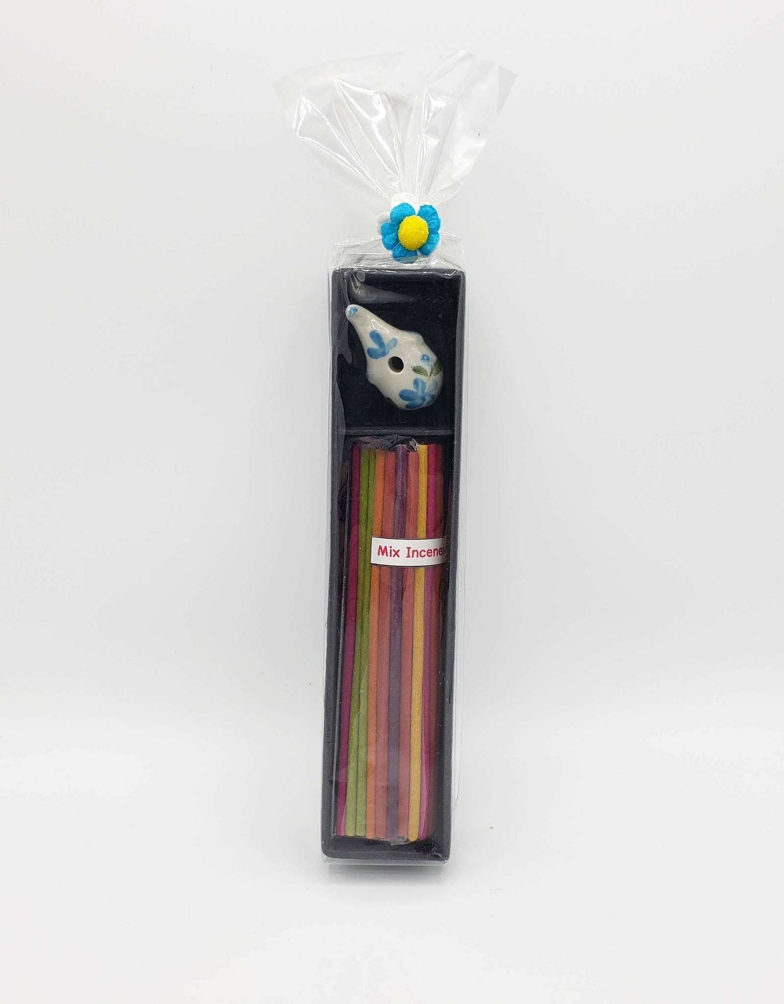 Incense Gift Set with Ceramic Elephant