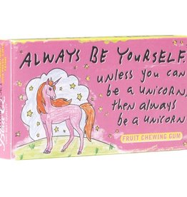 Blue Q Always Be Yourself Unicorn Gum Pack