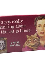 Blue Q Drinking alone with Cat Gum Pack