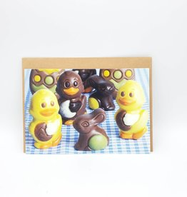 Redux Chocolate Chicks & Bunny Easter Greeting Card
