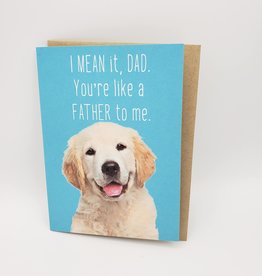 Like a Father to Me Father's Day Greeting Card