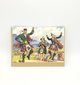 Redux Scottish Dancing Father's Day Greeting Card