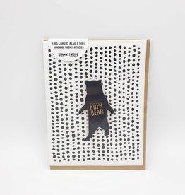 """Papa Bear"" Wood Magnet Greeting Card - Snow Made"