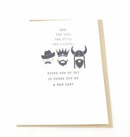 """Man, Myth, Legend"" Happy Father's Day Greeting Card - J&M Martinez"