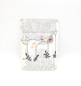 Trish Grantham Kissing Dogs Postcard - Trish Grantham