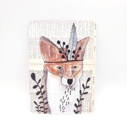 Trish Grantham Fox Friend Postcard - Trish Grantham