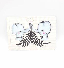 Trish Grantham Elephant Love Postcard - Trish Grantham