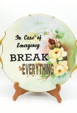 "Redux ""Break Everything"" - Vintage Upcycled Plate Art"