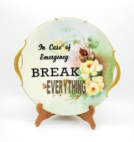 "Redux ""Break Everything"" - Vintage Upcycled Plate Art"