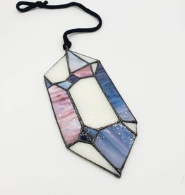 "Redux Herkimer ""Diamond"" Crystal Stained Glass Window Hanging"