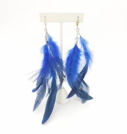 Redux Blue Feather Earrings