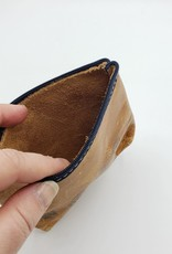 In Blue Handmade Beers Leather Zipper Pouch