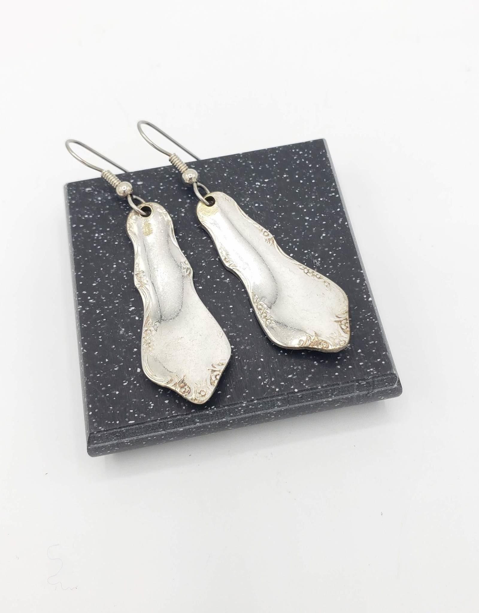 Recycled Utensil Handle Earrings