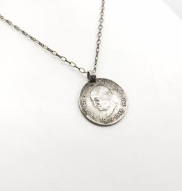 Redux Ghandi Indian Coin Necklace