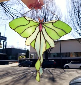 Redux Luna Moth Stained Glass Suncatcher