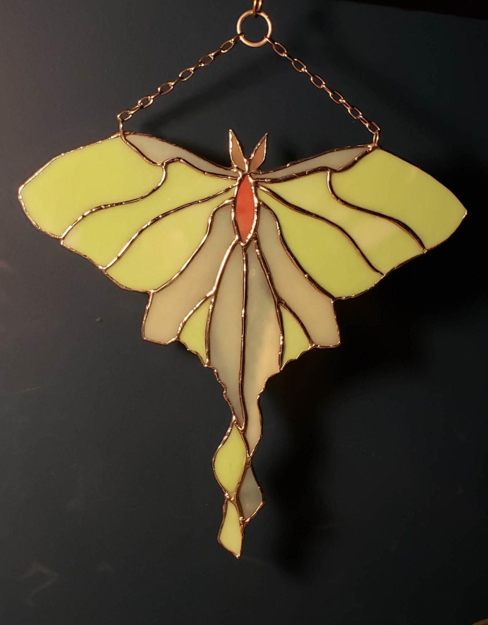 Redux Luna Moth Stained Glass Suncatcher