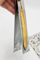 Vintage Brass Feather Letter Holder