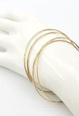 Hammered Bangle Bracelets- Textured