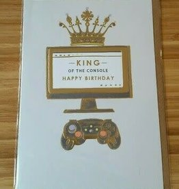 """""""King of the Console"""" Greeting Card - Louise Tiler"""