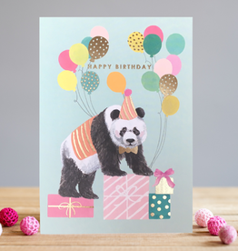 Birthday Panda Greeting Card - Louise Tiler