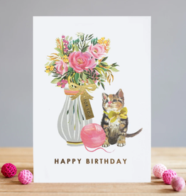 Birthday Kitten Greeting Card - Louise Tiler