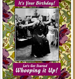 """Whoop it Up"" Birthday Greeting Card - Umlaut Brooklyn"