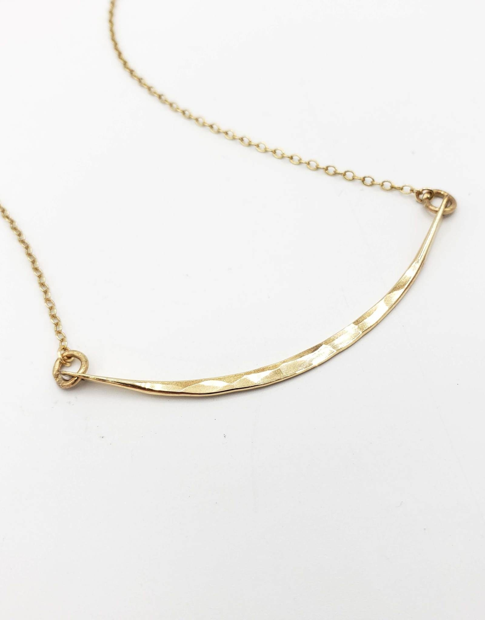Redux Hammered Curved Bar, Gold Fill