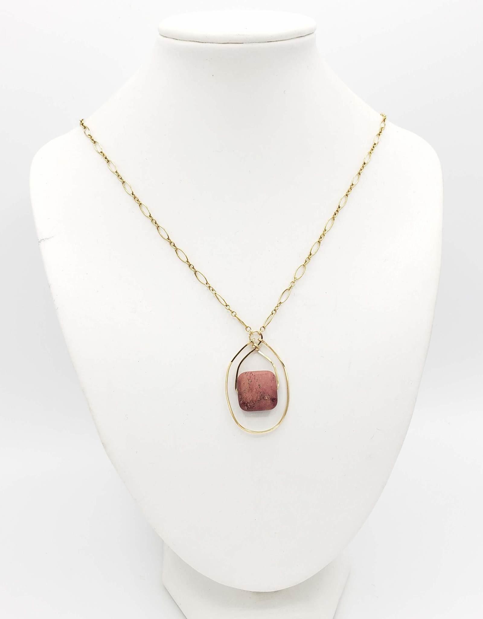 Redux Red Jasper Necklace - Gold fill