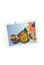 Asana Natural Arts Monarch Butterfly Post Earrings - Lower Wing Resin Silver Plate