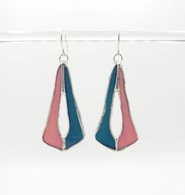 Redux Stained Glass Deco Earring, lavender/blue