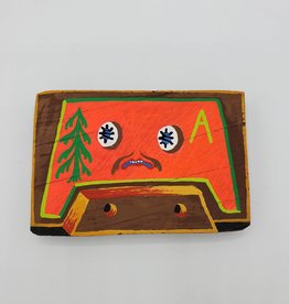 Orange Cassette Tape Painting by Tripper Dungan