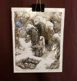 Obsidian Soliloquy, Fantasy Folklore Gothic - Giclee Print 8.5x11 by Ian Anderson