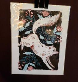 White Wolf Print - Papio Press 8.5 x 11