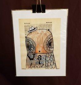 Wise Owl Print - Trish Grantham Papermilk 8.5 x 11