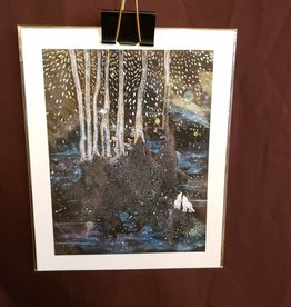 White Wolves in the Forest Print - Lela Shields 8 x 10