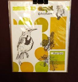 Oregon Western Meadowlark Print, Hammerpress 8X10