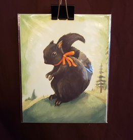 Black Squirrel Print - The Black Apple Emily Winfield Martin 8 x 10